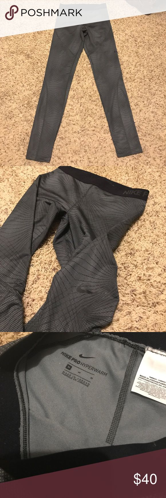 Hyper warm leggings Used one time for layering while skiing Nike Pants Leggings