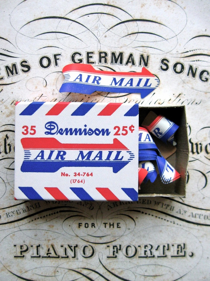 Dennison Air Mail Labels