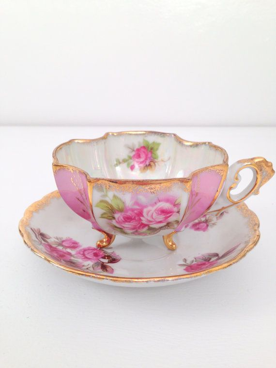 Vintage Iridescent Fred Roberts China Teacup by MariasFarmhouse, $69.00