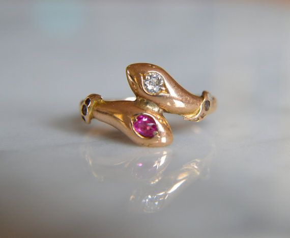 282 Best Snake Rings And Serpent Jewelry Images On