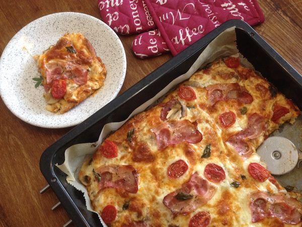 Πίτσα στα γρήγορα χωρίς μαγιά
