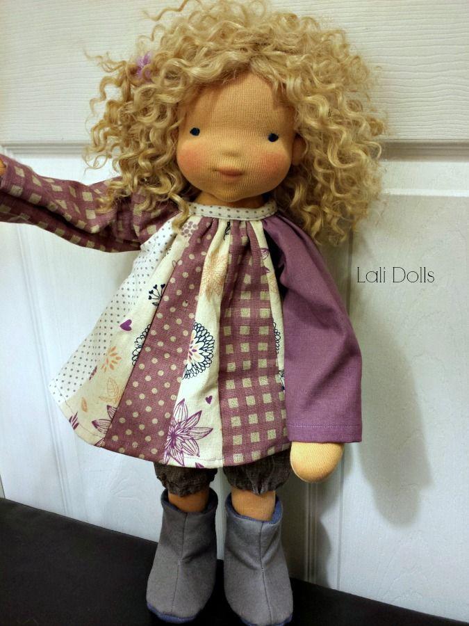Anna, a custom order Lali Wildflower doll; http://lalidollnursery.com/2014/12/04/anna-custom/