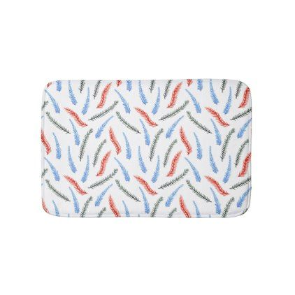 Branches Small Bath Mat - red gifts color style cyo diy personalize unique