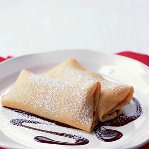Crepes with Bananas and Nutella sauce