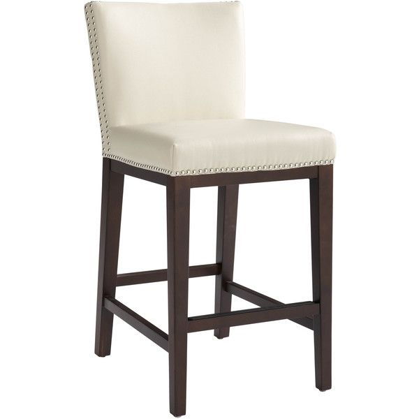 Sunpan '5West' Vintage Bonded Leather Counter Stool ($339) ❤ liked on Polyvore featuring home, furniture, stools, barstools, ivory, cream bar stools, cream colored furniture, vintage furniture, ivory furniture and antique white bar stools