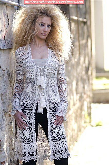 crochet summer coat