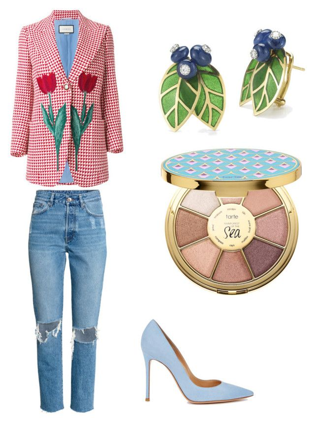 """""""🌷"""" by stacyk01 on Polyvore featuring мода, Gucci, Gianvito Rossi и tarte"""
