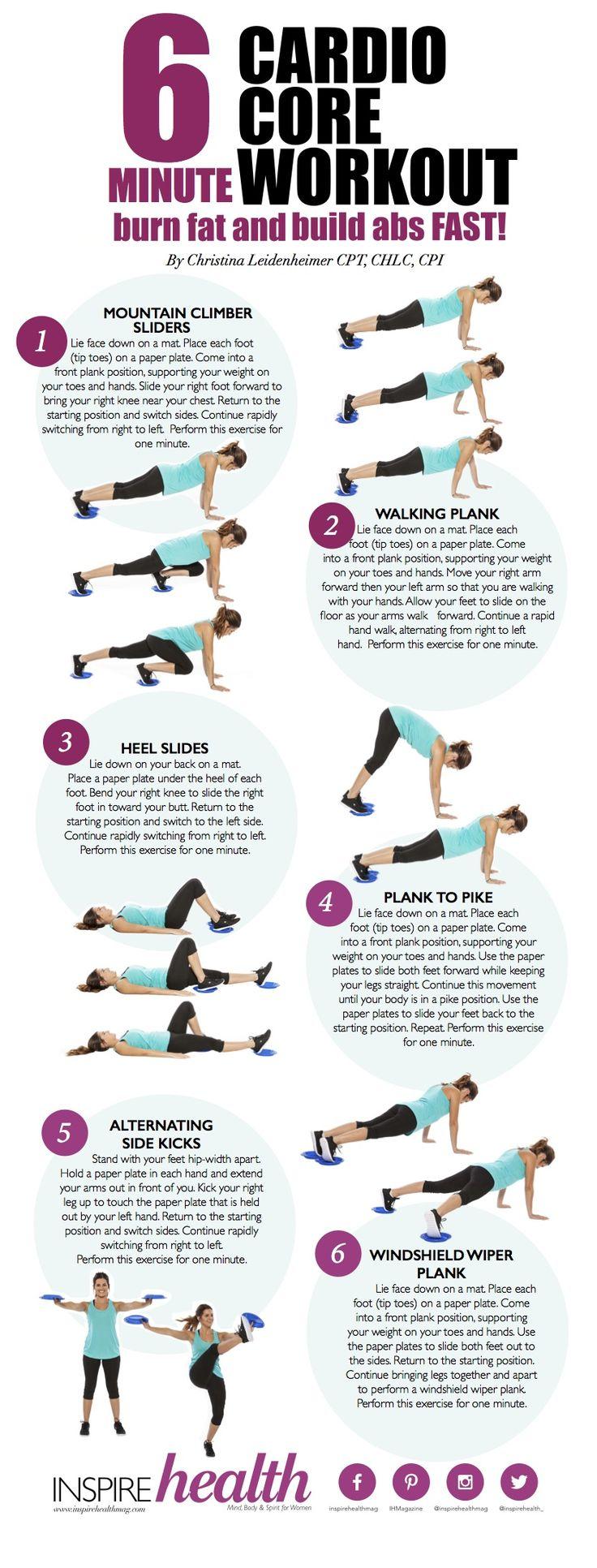 6 Minute Cardio Core Workout - Inspire Health Magazine