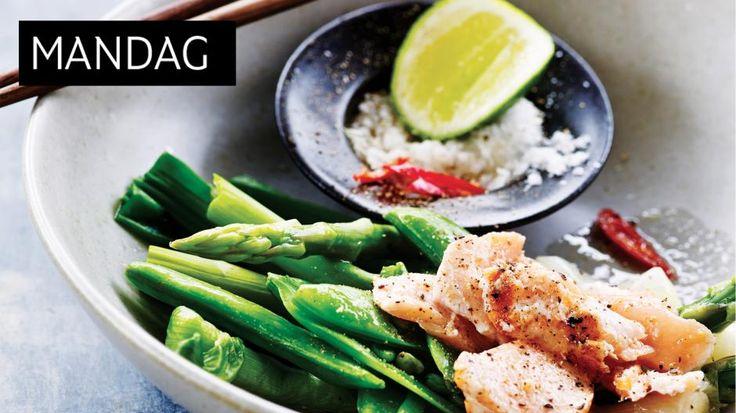 vietnamesiske retter: Grillet laks med limesalt og dampede grønnsaker - KK.no