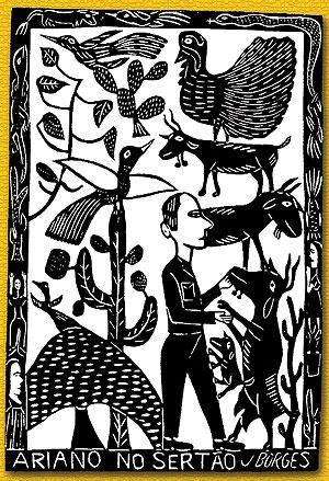 3- Referência de ilustração - J. Borges, Ariano no Sertão.