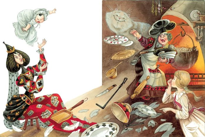0_f8897_c36430f7_XXL (700x468, 373Kb) Иллюстратор Максим Митрофанов -«Алиса в стране чудес»