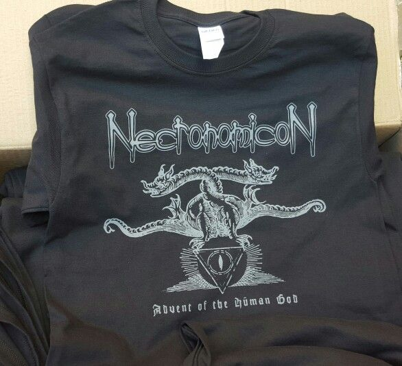 New #NecronomicoN tees from Band-Brand.  #montreal #metal #merch