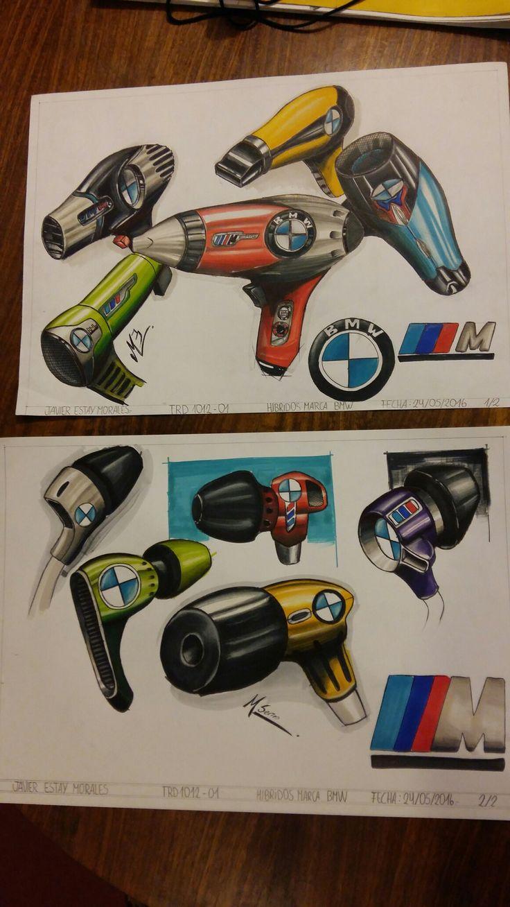 Headphones and Hairdryer #Marker #Alpha #sketch #design #chile