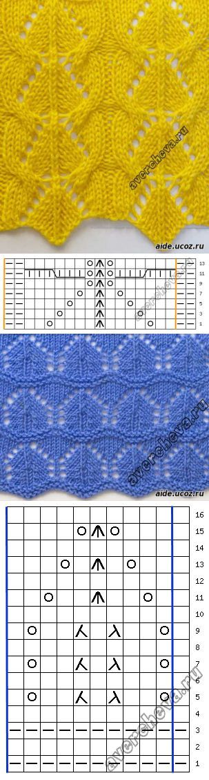 Openwork patterns - Patterns - Knitting by spokes. - The catalog of files - the Hobby. // Валентина Аниськина