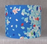 Butterflies and Leaves Blue lampshade by LightCandy