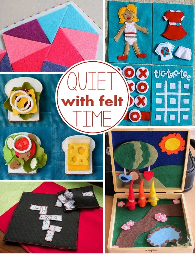 10 + quiet time felt activities to help keep kids quiet during nap time