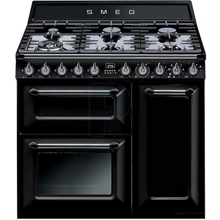 Smeg 90cm Dual Fuel Freestanding Oven/Stove TRA93BL - $6979, http://www.powerland.com.au/smeg-90cm-dual-fuel-freestanding-oven-stove-tra93bl
