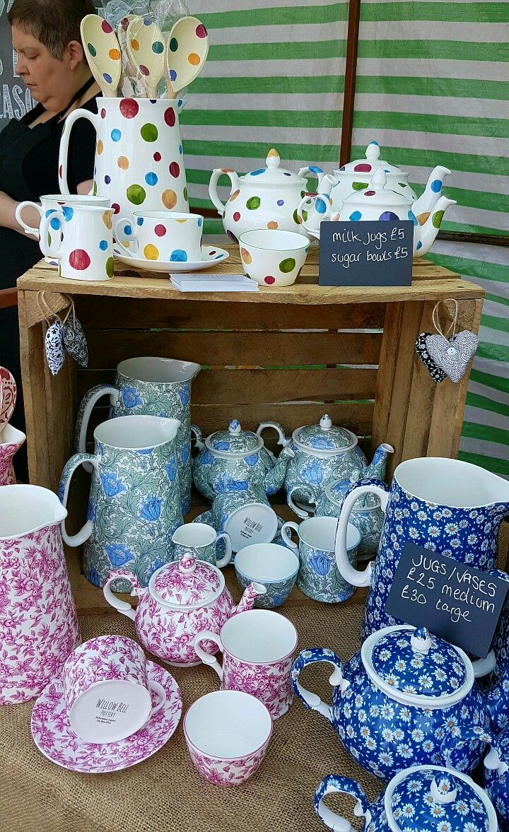 WILLOW BELL Staffordshire Fine Bone China Tea Sets, TeaPots, Cup and Saucer, SugerBowl, Mug, Milk Jug  plus Large and Medium size Water Jugs.  at Latchford Village Market
