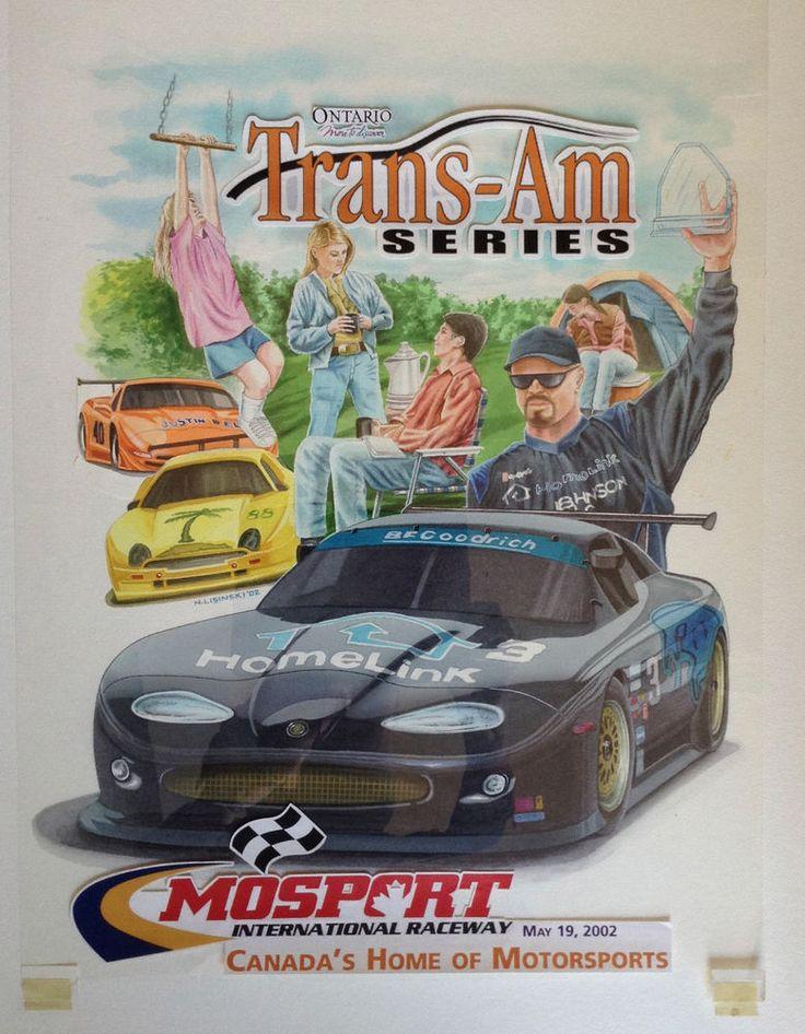 Mosport American Le Mans Cover Original Art #IllustrationArt