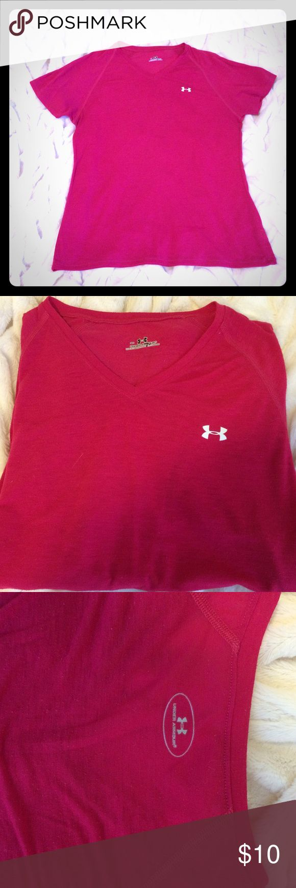 Under Armour short sleeve top Pink Under Armour top. 95% polyester, 5% elastine. Under Armour Tops Tees - Short Sleeve