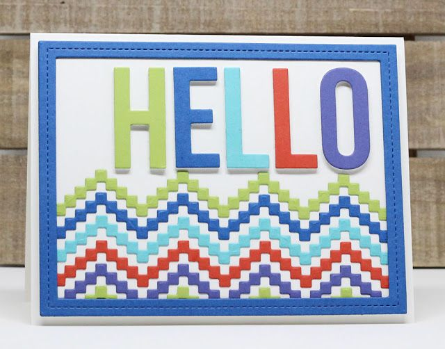 Big Hello Die-namics, Stepped Up Chevron Die-namics, Single Stitch Line Frames Die-namics - Jody Morrow  #mftstamps