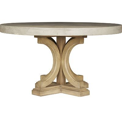 Havertys Lakeview Round Concrete Dining Table Home