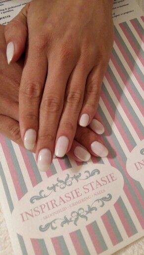 All white nails! #PolishPro #SnowAngel #white #mani #nailswag