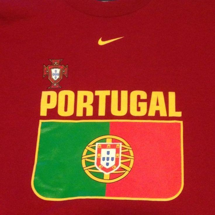 NIKE Portugal Jersey T Shirt Luis Figo 7 XXL Football Soccer National Team Flag #Nike #Portugal
