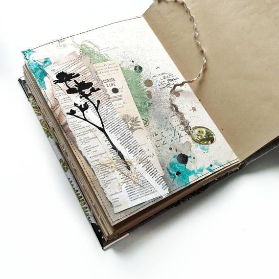 Journal Fabric Covered a5 Art Journal Textile Handmade