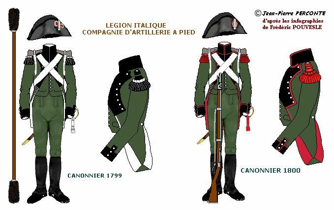 Legione italica artiglieria a piedi 1799-1800