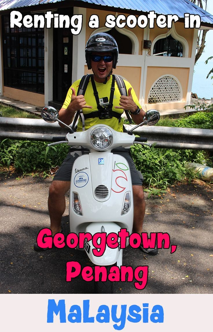 Renting a scooter in Georgetown, Penang was such a fun way to get around and sight see. It's cheap and gives you way more freedom. Find out where to rent, how to get the best price and where to get this beautiful white Vespa!