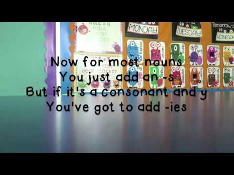 Plural Nouns Song (Frozen) So fun!!