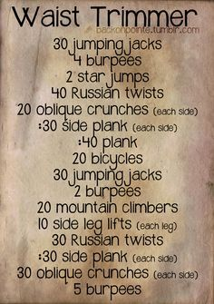Tiny waist workout!!!