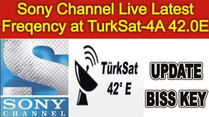 Sony Channel Frequency at TurkSat-4A 42 0E Latest Update