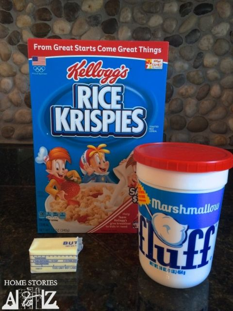 Marshmallow fluff rice krispie treat recipe