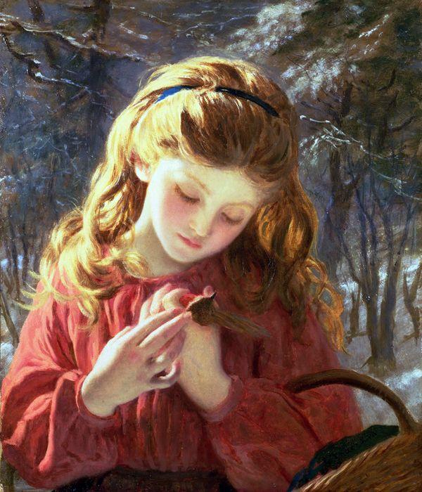 Софи Жанжамбр Андерсон (фр. Sophie Gengembre Anderson; 1823, Париж — 10 марта 1903, Фолмаут, Корнуолл) — английская художница французского происхождения  Новый Друг (A New Friend) (600x700, 441Kb)