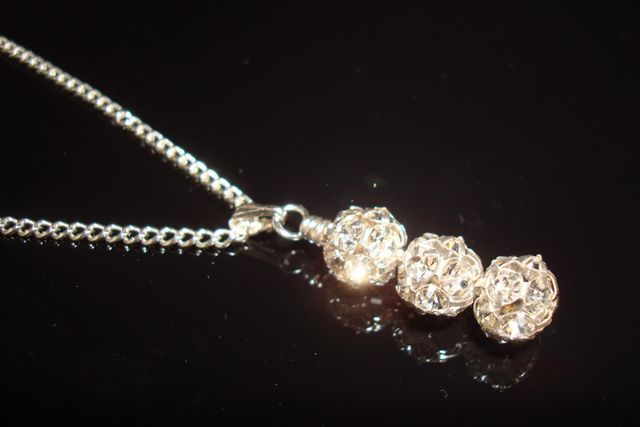 Elegance pendant - sparkly diamante rhinestone wedding pendant from Lou Lou Belle Designs http://www.louloubelle.co.uk/pendants_bridal.html#