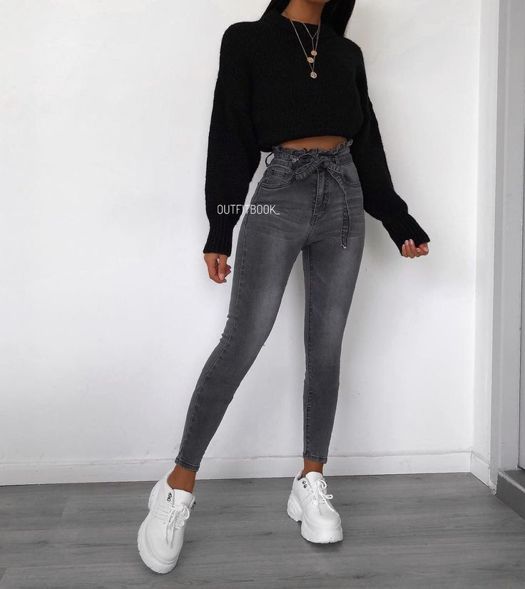 These gray bag jeans are everything everything …