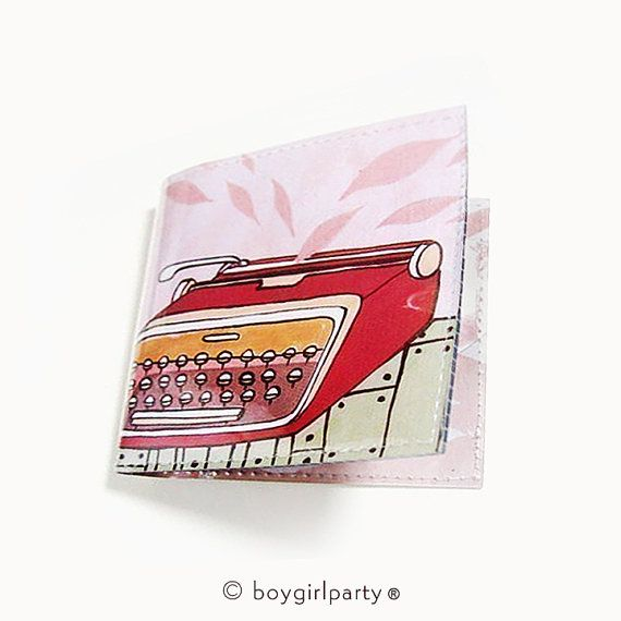 vegan wallet women vinyl wallet - TYPEWRITER #accessories #wallet @EtsyMktgTool http://etsy.me/2ikN0Yg