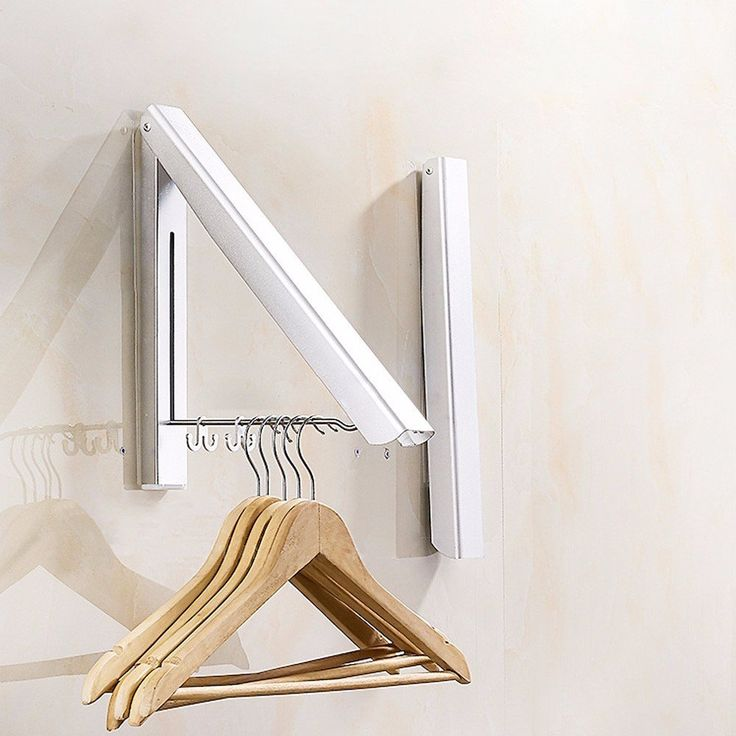 eleg wall mounted clothes airer washing line coat shirt on wall hanger id=16891