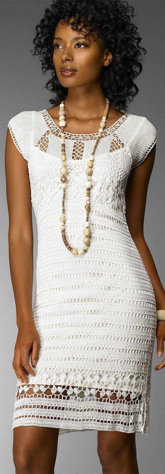 Crinochet: Dress by Nordstrom crochet dress in elegant white: