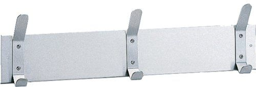 """Satin finish, #stainless #steel 304 type material. Mounting strip is 4"""" (100mm) high and has 1/4"""" (6mm) return. Each hook attached to mounting strip with two rive..."""