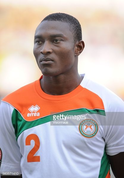 Moussa Maazou Ouwo of Niger during the 2012 African Cup of Nations Group C match between Gabon and Niger at the Stade de l'Amitie in Libreville Gabon...