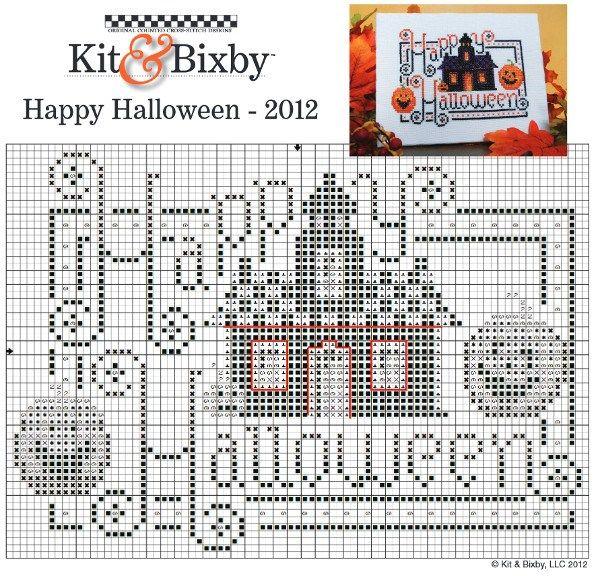 Happy Halloween cross stitch chart