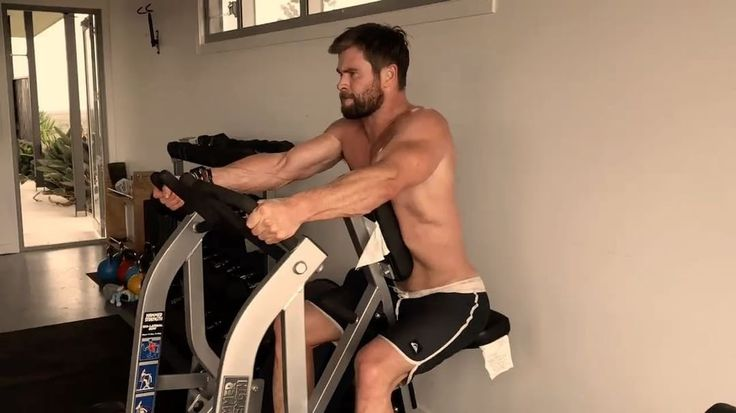 Watch These Videos of Chris Hemsworth Working Out, Because You Know You Want To