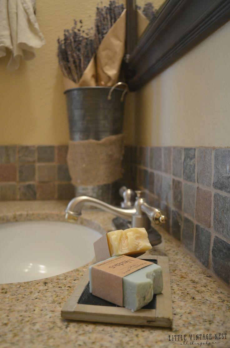 Farmhouse Bathroom Decor:::Natural Soap and Lavender
