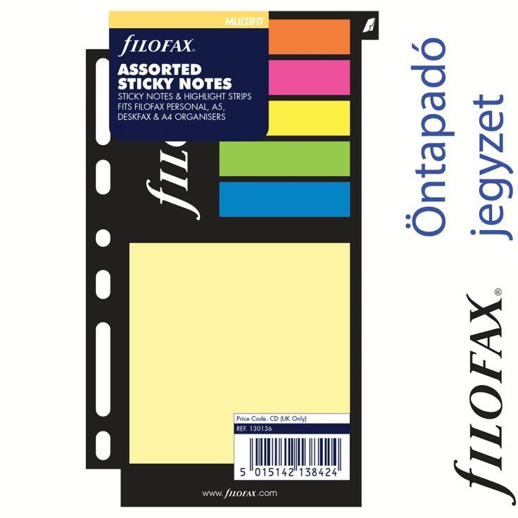 Filofax gyűrűs kalendárium Öntapadó színes jelölő címke és jegyzet nagy méret Multifit Vegyes színű | Filofax Gyűrűs Kalendáriumok