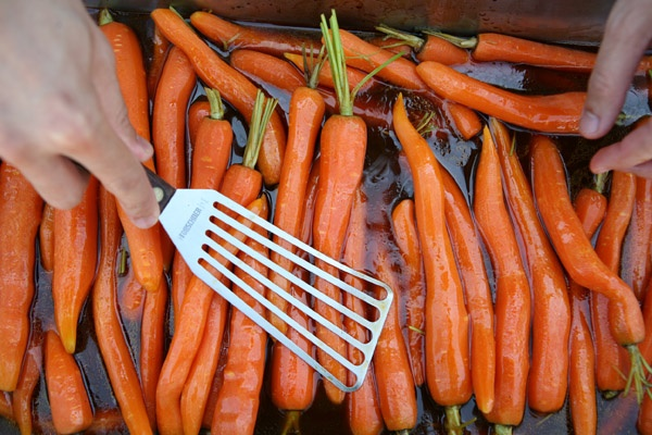 Orange-glazed Carrots With Ramp Barley And Spinach Recipe — Dishmaps
