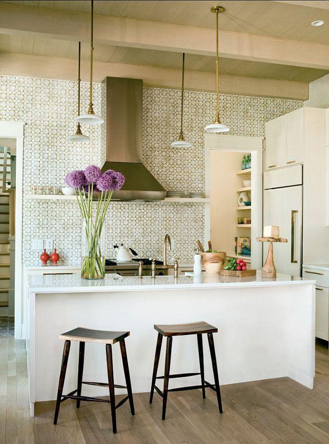 """Kitchen Backsplash. #Kitchen #Backsplash Backsplash: """"Nottingham Tiles by Ann Sacks""""."""
