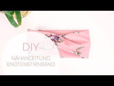 DIY : Nähanleitung für Anfänger ; Knoten Stirnband / Bandeau, einfach selber …